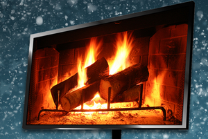 digital yule log