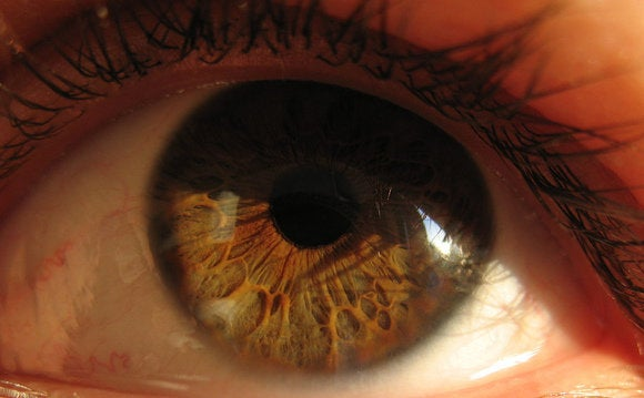 eyeball close up