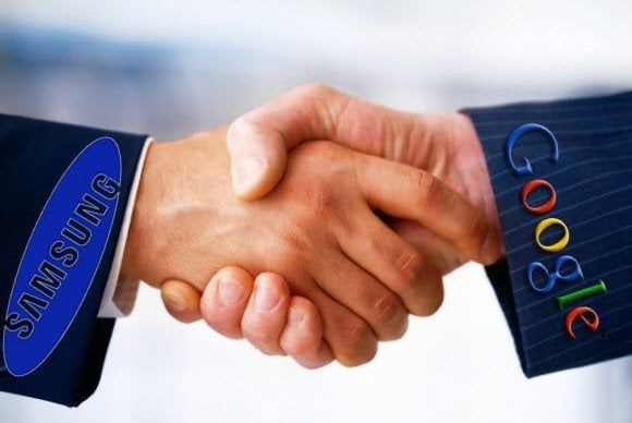 samsung google handshake