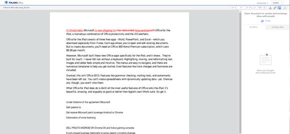 polaris office word document