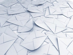 stack of envelopes 123215443