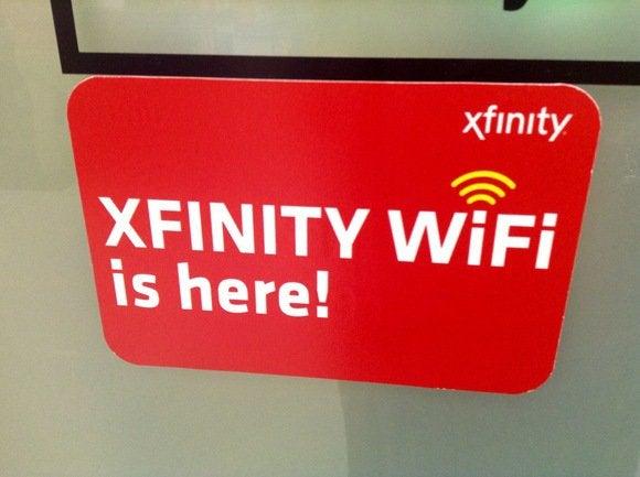 Xfinity Wi-Fi signs