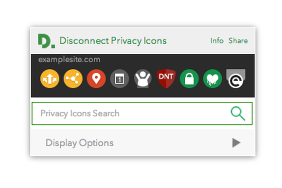disconnect privacy icons