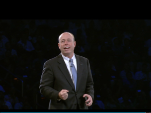 Microsoft COO Kevin Turner on stage at WPC14