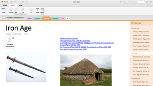 OneNote for Mac iOS notebook