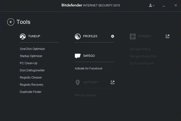 bitdefender tools