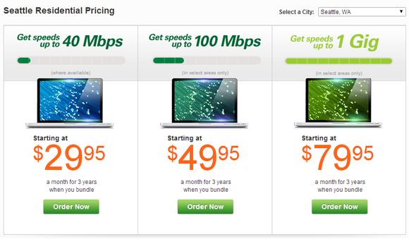 centurylink gigabit prices