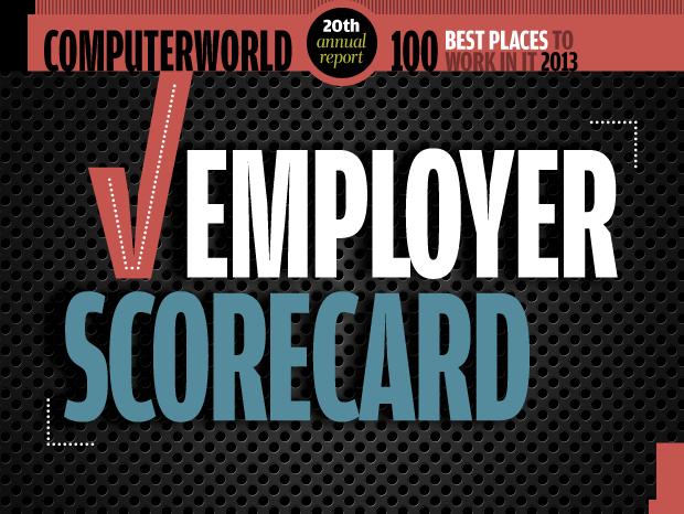 Computerworld Best Places to Work in IT 2013 / Employer Scorecard