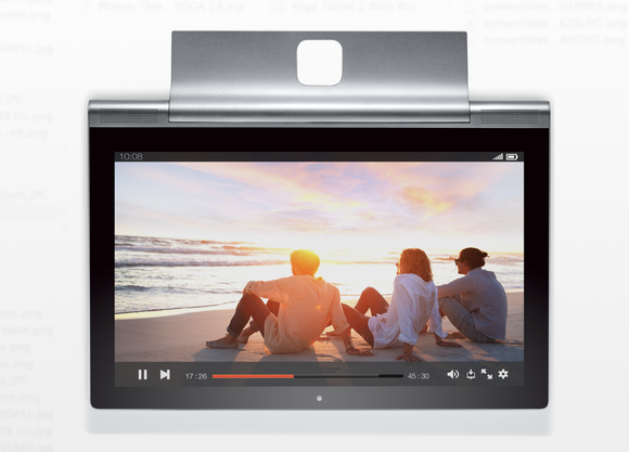 New Lenovo Yoga tablet hides a surprise: A projector for impromptu movie nights