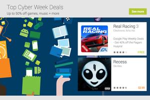 cyber week google play