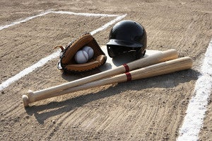 baseball mitt bat balls