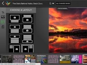 Haiku Deck slide layout