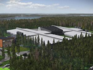 rendering of facebook data center