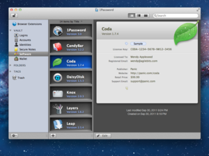 1password software licenses full