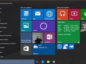 Start Menu: Windows 10 Build 10056
