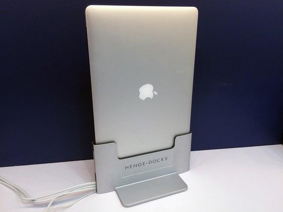 Henge Vertical Dock with Retina MacBook Pro
