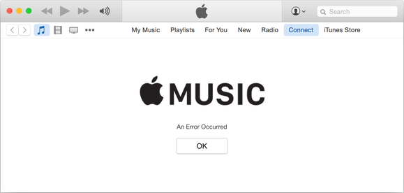 applemusic error connect