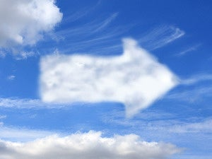 cloud arrow