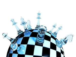 globe chess geopolitics