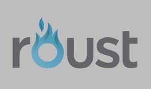 roust logo gray