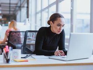 black african women business laptop