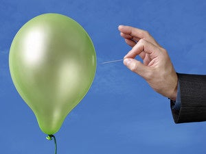 pin popping balloon