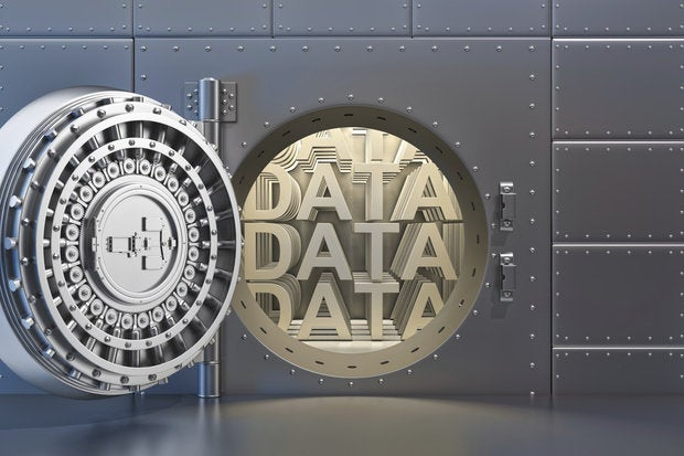 Bank Vault protecting data inside
