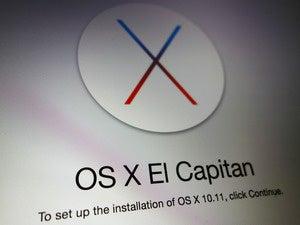 OS X El Capitan installation