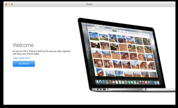 apple photos startup screen