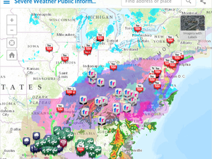 esri severe weather public information map