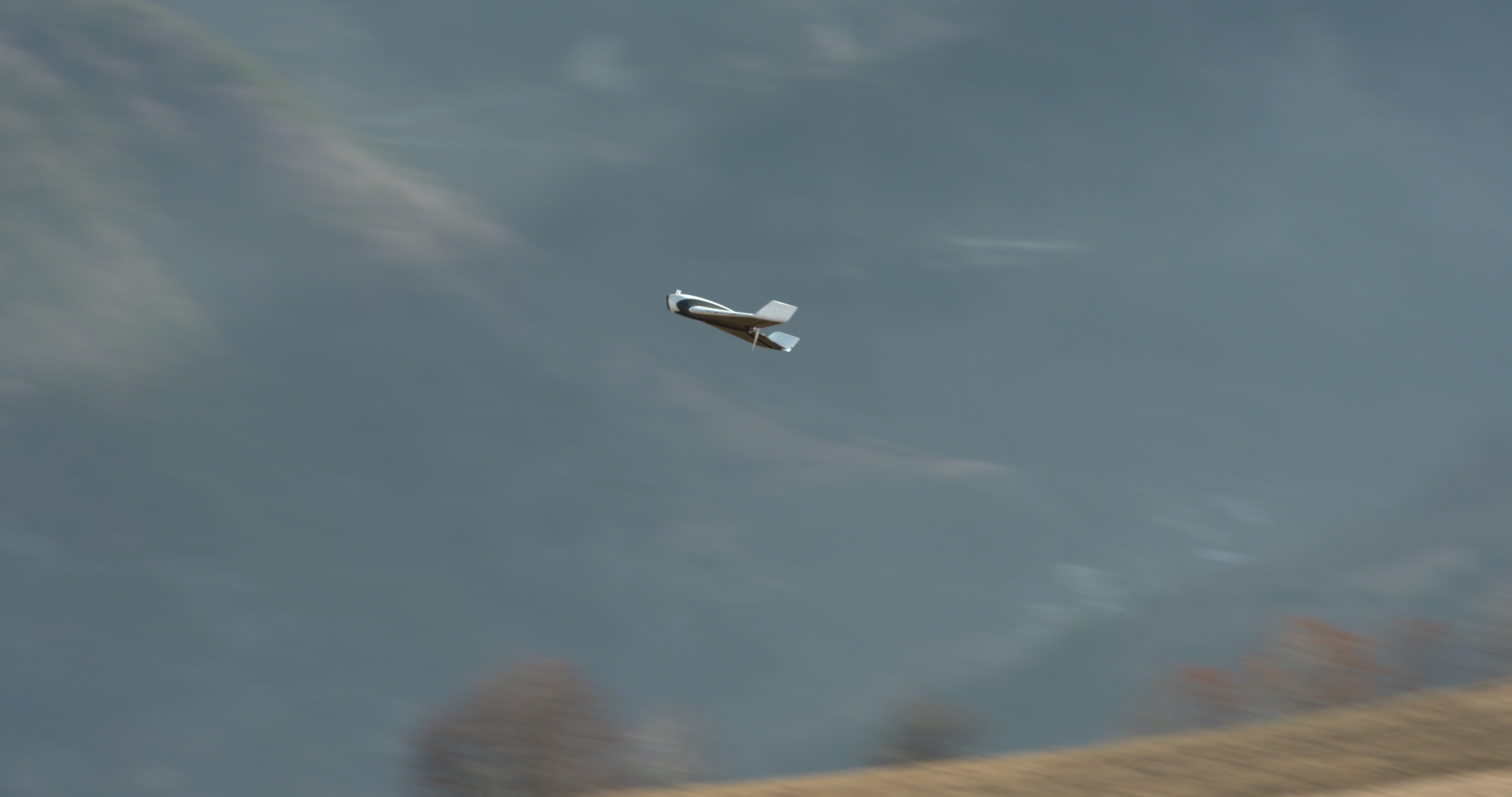 Parrot's Disco drone in flight