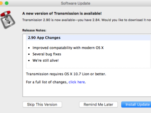 transmission 2.9 os x