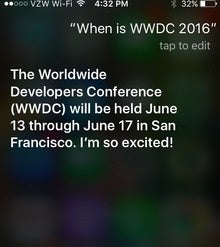 Siri says: Apple WWDC 2016 is June 13-17