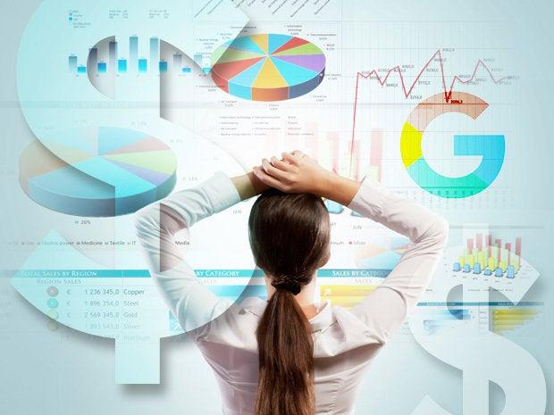 google analytics charts graphs dollar signs money
