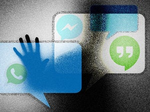 messaging apps threats security privacy thought bubbles