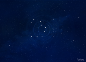 Fedora 24's default wallpaper.