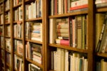 library shelves books