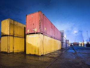 colorful containers at dock
