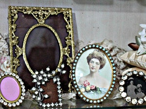 frames framework vintage photos bling antiques