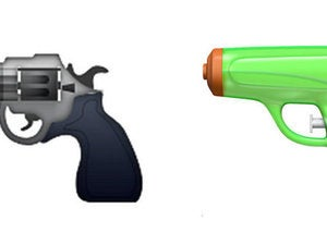 pistol gun emoji ios9 ios10