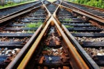 railroad tracks merging