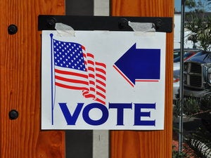 voting sign united states