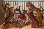 lion tamer woman whip zoo