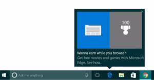 windows 10 toolbar ad