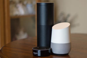Amazon Echo, Echo Dot, and Google Home