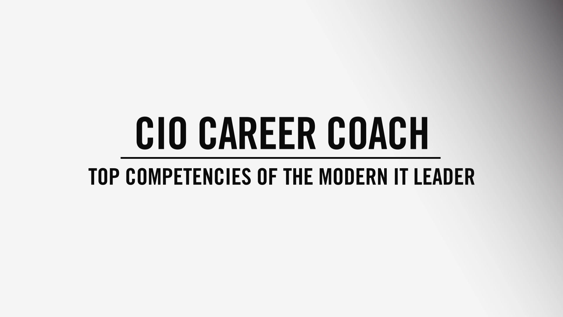 CIO Career Coach